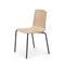 chaise visiteur contemporaine / empilable / avec accoudoirs / en acier