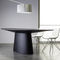 table contemporaine / en bois / ovale