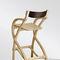 chaise de bar contemporaine / avec accoudoirs / en frêne / en wengé