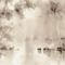 Papier peint classique / en coton / motif nature / peint à la main LETHARGY BuenaVentura
