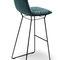 chaise de bar contemporaine / tapissée / avec accoudoirs / luge