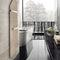 sèche-serviettes à eau chaude / électrique / en aluminium / en bois