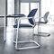 Chaise visiteur contemporaine / avec accoudoirs / tapissée / empilable METRIK by WhiteID Wilkhahn