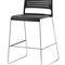 Chaise de bar contemporaine / tapissée / avec repose-pieds / avec accoudoirs ALINE by Andreas Störiko Wilkhahn