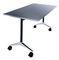 table de travail contemporaine / en mélaminé / en plastique / rectangulaire