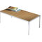 Table basse contemporaine / en bois / en verre / rectangulaire ASIENTA by Jehs + Laub Wilkhahn