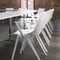 chaise de conférence avec accoudoirs / empilable / en plastique