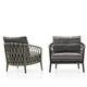 fauteuil contemporain / en tissu / en fonte d'aluminium / en corde