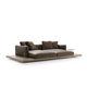 canapé contemporain / en cuir / en tissu / par Piero Lissoni