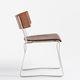 chaise contemporaine / luge / en chêne / en noyer