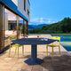 table à manger contemporaine / en acier / hexagonale / d'extérieur