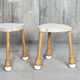 tabouret contemporain / en bois / empilable