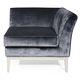 fauteuil contemporain / en cuir / en tissu / noir