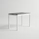table mange-debout contemporaine / en aluminium / rectangulaire / contract