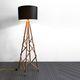 lampe sur pied / contemporaine / en métal / en bois