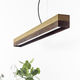 lampe suspension / design minimaliste / en béton / en chêne