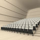 chaise d'auditorium pliante / tapissée / à tablette / avec repose-tête
