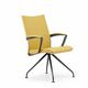 chaise visiteur contemporaine / en tissu / en acier inoxydable poli / en fonte d'aluminium