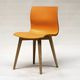 chaise contemporaine / tapissée / en chêne / en nylon