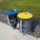 poubelle publique / sur pied / murale / en acier galvanisé