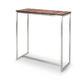 table mange-debout contemporaine / en bois / en acier inoxydable / rectangulaire