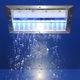 pommeau de douche à neige / encastrable au plafond / rectangulaire / avec éclairage intégré