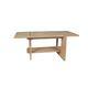 table basse contemporaine / en bois vernis / rectangulaire / d'extérieur