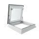 trappe d'accès au toit / carrée / en aluminium