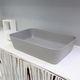 vasque à poser / rectangulaire / contemporaine