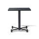 table contemporaine / en bois / avec piètement en métal / carrée