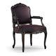 fauteuil de style Louis XV / en tissu / en hêtre