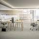 bureau pour open space / en hêtre / en chêne / contemporain