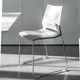 chaise de conférence contemporaine / empilable / luge / avec accoudoirs