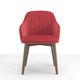 chaise contemporaine / tapissée / avec accoudoirs / en velours