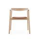 chaise contemporaine / avec accoudoirs / tapissée / en bois massif