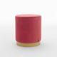 pouf contemporain / en velours / en simili cuir / rond