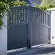 portail battant / en aluminium / à lames / résidentiel