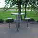 table mange-debout contemporaine / en acier / ronde / d'extérieur