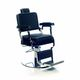 fauteuil de barbier en simili cuir / avec repose-pieds / piètement central / avec repose-tête