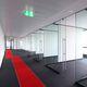 système de cloison fixe / en verre / pour salle de réunion