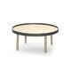 table basse contemporaine / en chêne / ronde