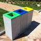 poubelle publique / en acier COR-TEN® / en acier inoxydable / en béton