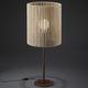 lampe de table / contemporaine / en bois / marron