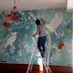 revêtement mural résidentiel / peint à la main / aspect papier peint / pour intérieur