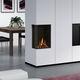 cheminée à gaz / contemporaine / à foyer ouvert / d'angle