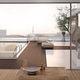 lame de terrasse en bois composite / rainurée