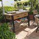 desserte de jardin / résidentielle / réfrigérée / en bois