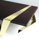 table basse / design original / en wengé / en laiton poli