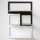 système d'étagères mural / contemporain / en bois / à usage résidentiel