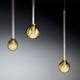 suspension / contemporaine / en verre borosilicaté / fait main